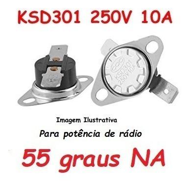 Termostato Ksd301 55 Graus Potencia Radio - Normal Aberto No