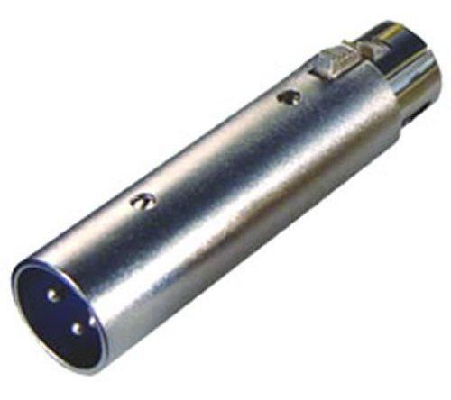 Plug Conector Xlr Macho X Xlr Fêmea 3 Pólos Emenda Csr Metal