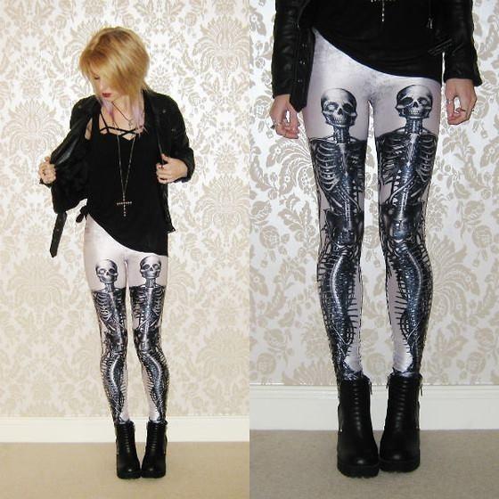 Leggings/calza Simil Blackmilk - Esqueleto Sirena