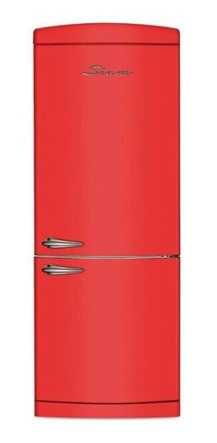 Heladera Siam Hsi-rt60 Combi Retro Roja