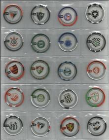 2012 Coleção Completa 100 Flipix Campeonato Brasileiro Tazos