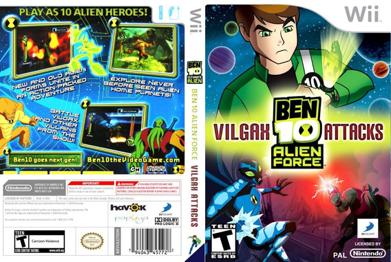 Ben 10 Alien Force Vilgax Attacks Para Wii Novo Lacrado
