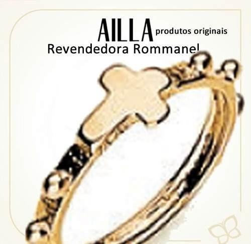 Anel Formato Rosario Folheado A Ouro 510601 Rommanel