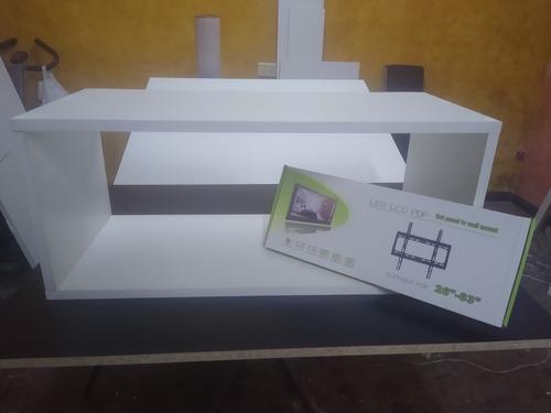 Rack Estante Flotante + Soporte 63 Cpu Tv Lcd Play Smart