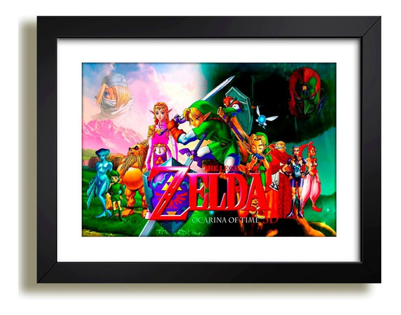 Quadro Zelda Rpg Game Nintendo Filme Serie Decorativo Jogos