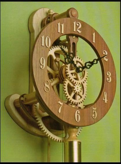 Projeto Pdf Relógio De Parede Com Pêndulo