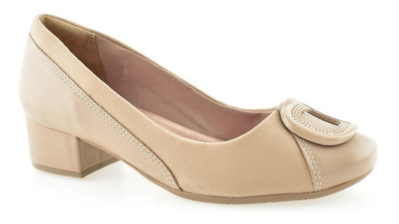 Sapato Feminino Comfortflex 1895305 Joanetes Preto Avelã