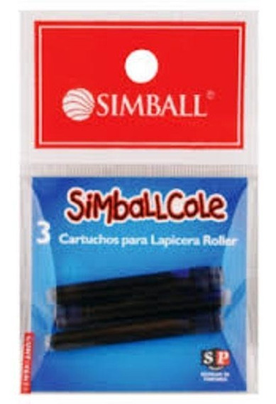 Cartucho Simball Cole Borrable Blister X3