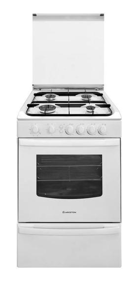 Cocina Ariston CG54SG1M 4 a gas/eléctrica blanca 220V puerta visor