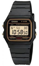 Relógio Casio F-91wg-9qdf Masculino Preto - Refinado