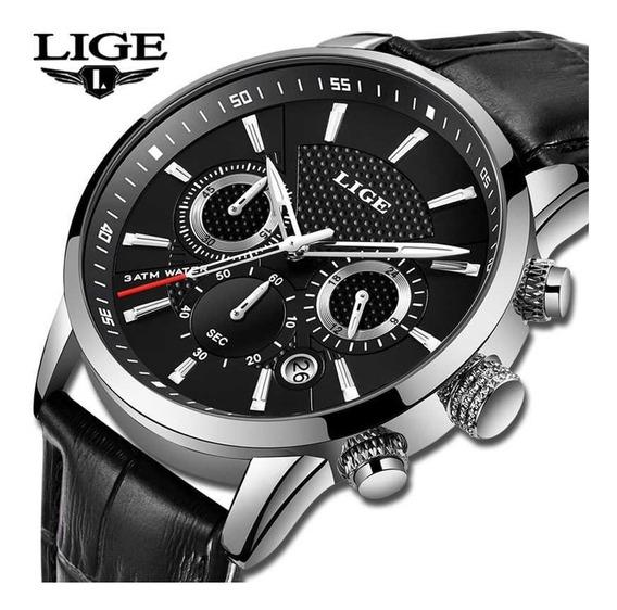Relógio Masculino Lige Social Luxo 100% Original Com Caixa