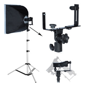 Kit Suporte Para Flash Speedlight E Softbox 75cm
