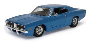 Dodge Charger Rt 1969 V8 Maisto 1:25 Azul