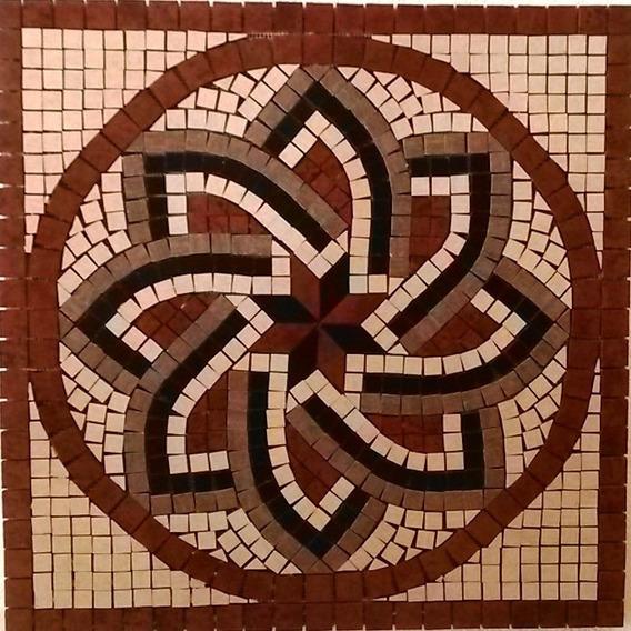 Rosetón Ceramico Cotto Cortines Para Pared O Pisos