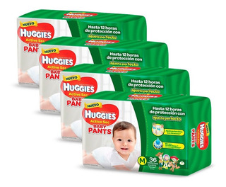 Pañales Huggies Active Sec Baby Pants Ultrapack Pack X 4