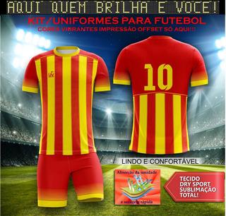 Uniforme Futebol Kit 11peças (camisa+calção) Sublimação