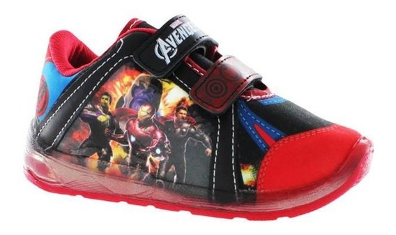 Sneaker Tenis Avengers Comodos Niño Luz Led Suela