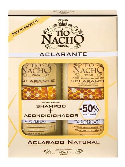 Monoestuche Tío Nacho Aclarante Shampoo + Acond X 415ml