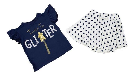 Conjunto 2 Pz Blusa Y Falda Para Niña 04783