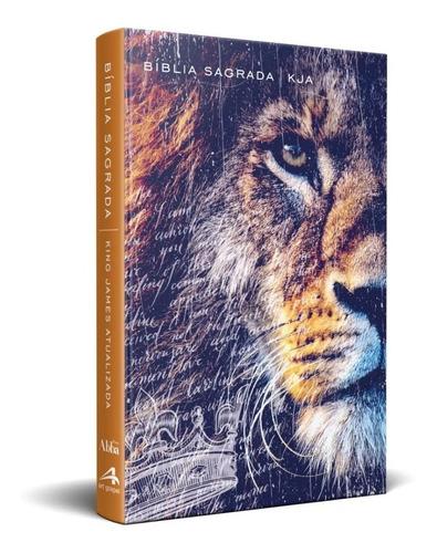 Bíblia King James Atualizada Kja Slim Leão Metade Da Face