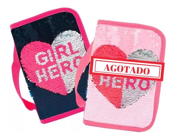 Cartuchera Lentejuelas Footy Girl Hero Ct Mmk F8084