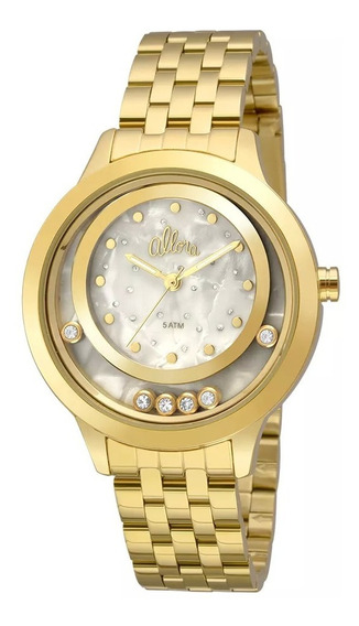 Relogio Feminino Dourado Fashion - Al2036fgv/4b Allora