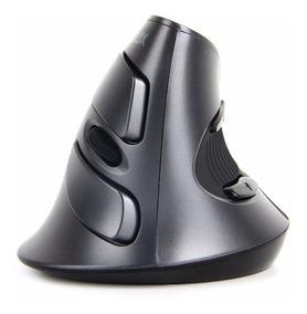 Mouse Ergonômico Delux M618 Vertical Sem Fio Preto 1600dpi