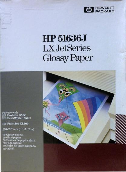 Papel Hp Glossy Satinado A4 (saldo C Det) X1h (usado) E8020