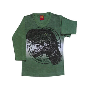 7f49fa047 Camiseta Manga Longa De Dinossauro - Calçados, Roupas e Bolsas com o ...