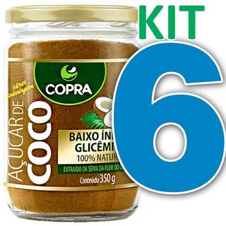 Kit 6 Açúcar De Coco Copra 350g 100% Puro Natura