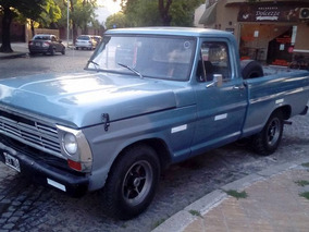 Ford F-100 1971 Pick Up Diesel 3.3 Al Dia Lista P/transferir