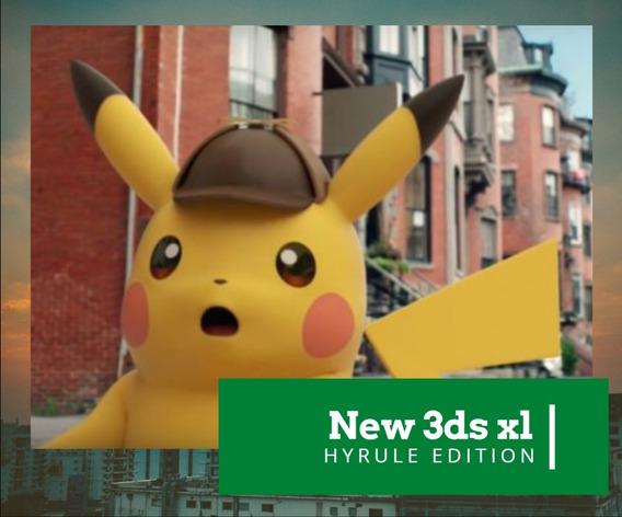 New 3ds Xl Hyrule Edition Zelda Desbloqueado + 32 Gb