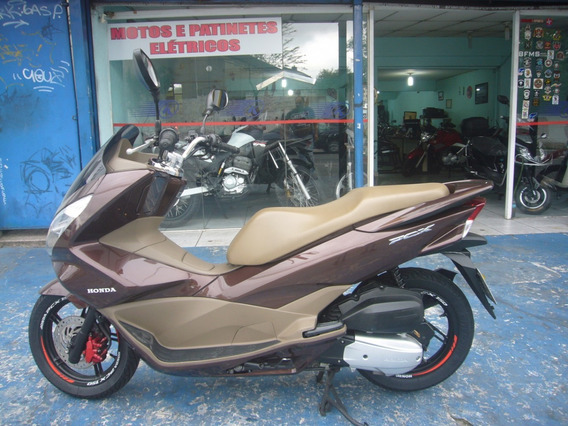 Honda Pcx 150 Dlx Marrom Ano 2017 R$ 9.999 Troca E Financia