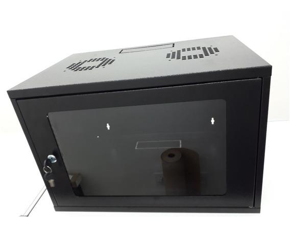 Mini Rack Parede 7u X 350 + Bandeja Fixa De 1u 290mm