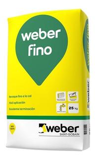 Fino A La Cal Weber P/interior X 25 Kg Proyectar Materiales