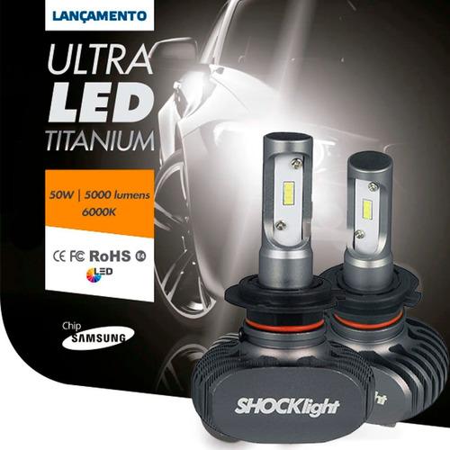 Kit Lampada Ultra Led Titanium Shocklight H7 10000 Lumens