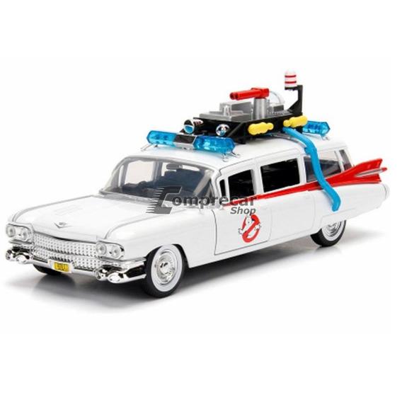 Miniatura Ecto-1 Ghostbusters Caça Fantasmas Jada 1/24