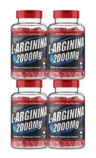 Combo 4 Pote L Arginina 2000mg 120 Capsulas Lauton Nutrition