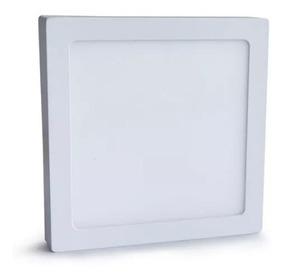 Kit C/5 Plafons Led 25w Quadrados Sobrepor Branco Quente Ctb
