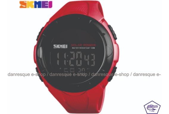 Relógio Skmei 1405 Vermelho Solar Eco Pronta Entrega