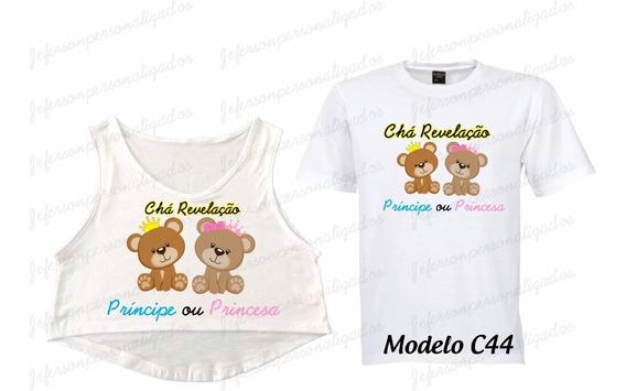 Kit 05 Camisetas Chá De Bebê Revelação Pai Mãe Irmãos