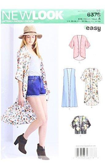 Nueva Mirada 6378 Facil Kimonos Con Longitud De Desplazamien