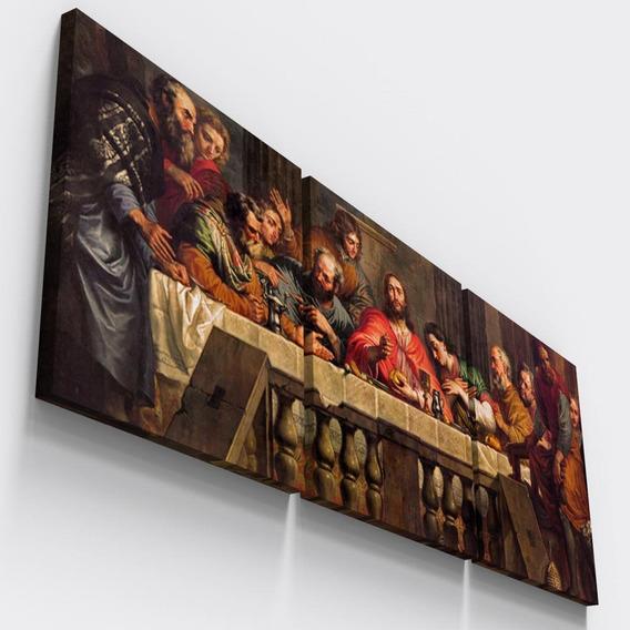 Quadro Decorativo Pao Vinho Corpo Sangue Cristo Santa Ceia