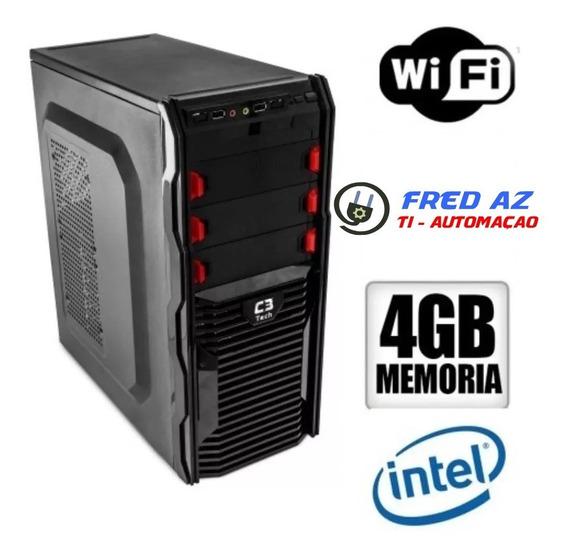 Cpu Nova Intel Dual Core 4gb Hd 320gb + Wifi C/ Windows 7