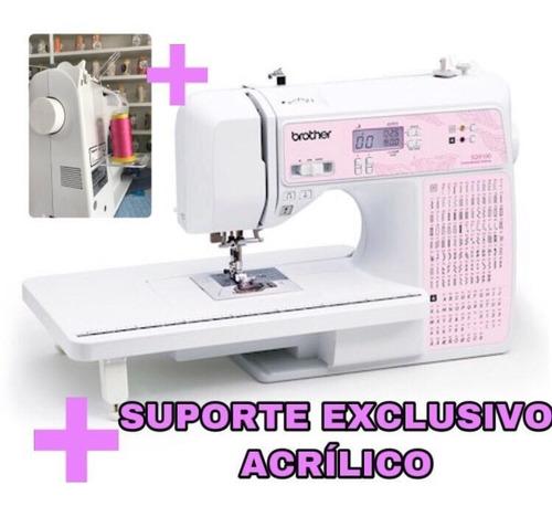 Imagem 1 de 10 de Máquina De Costura Sq 9100 + Suporte Exclusivo