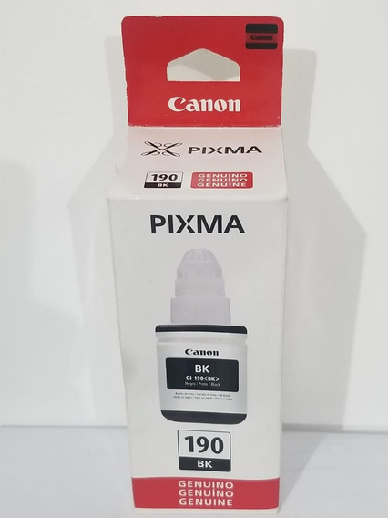 Refil De Tinta Canon Gi-190 Preto G1100/2100/3100/3102 Ori