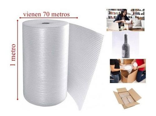 Rollo Plástico Burbuja 1m X  70m + Rollo Cinta (100m) +envío
