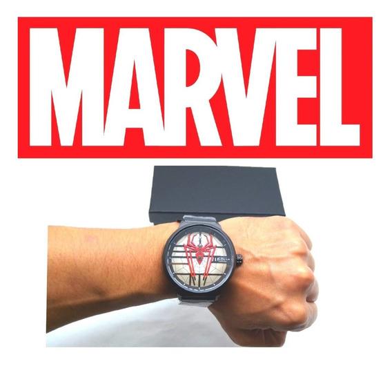 Relógio Spiderman,homem Aranha,adulto,aço Inox+brinde,marvel