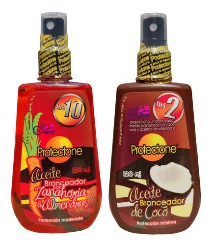 Aceite Bronceador De Coco Y Zanahoria Protectone