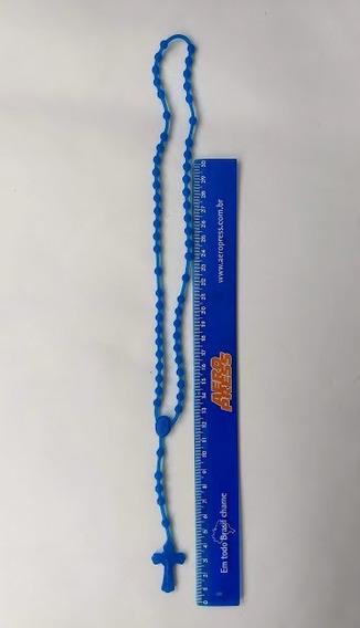 48 Terço Siliconi Cor Azul
